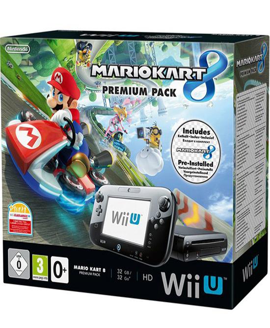 Nintendo wii u console 32gb mario kart 8 bundle gamechanger - Wii console mario kart bundle ...