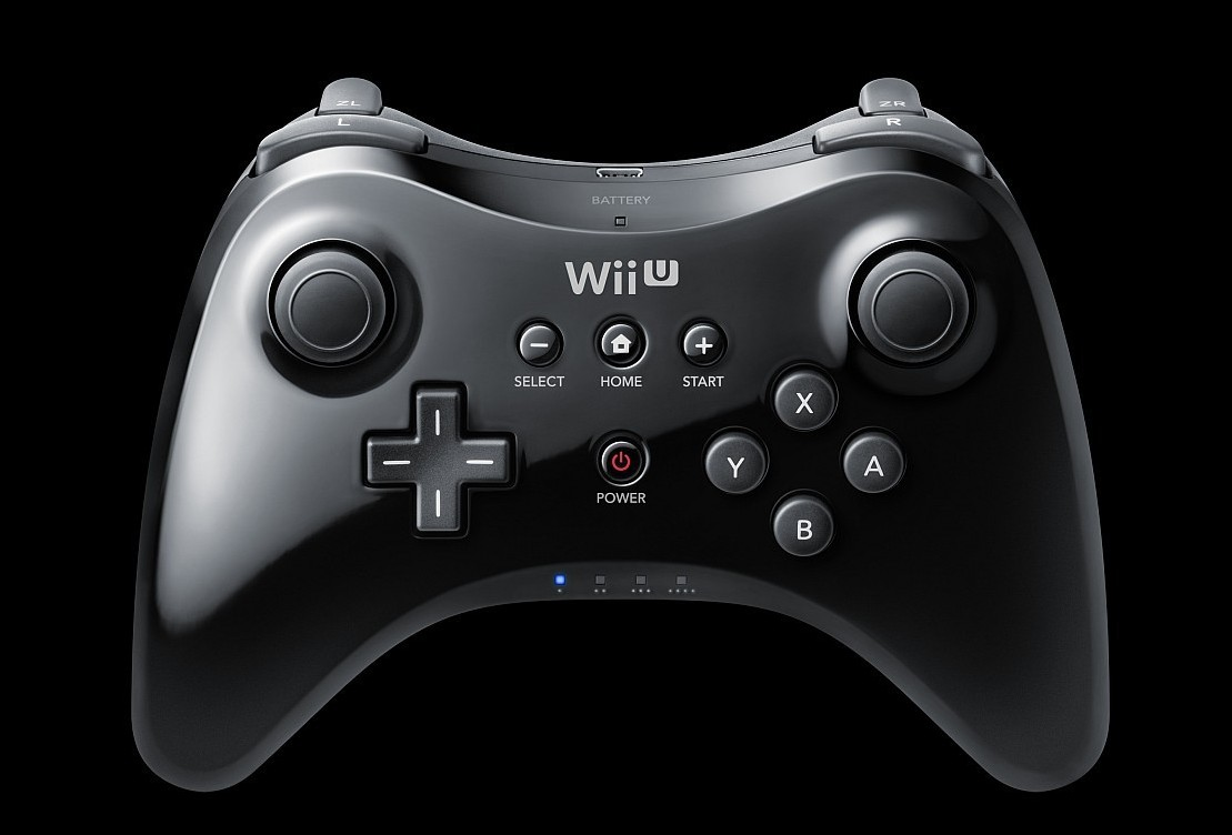 nintendo wii u pro controller black gamechanger. Black Bedroom Furniture Sets. Home Design Ideas
