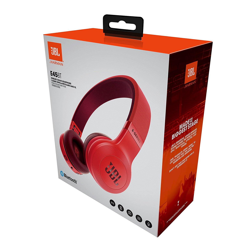 Jbl E45bt Gamechanger In Ear Headphone T290 Silver E45 Red