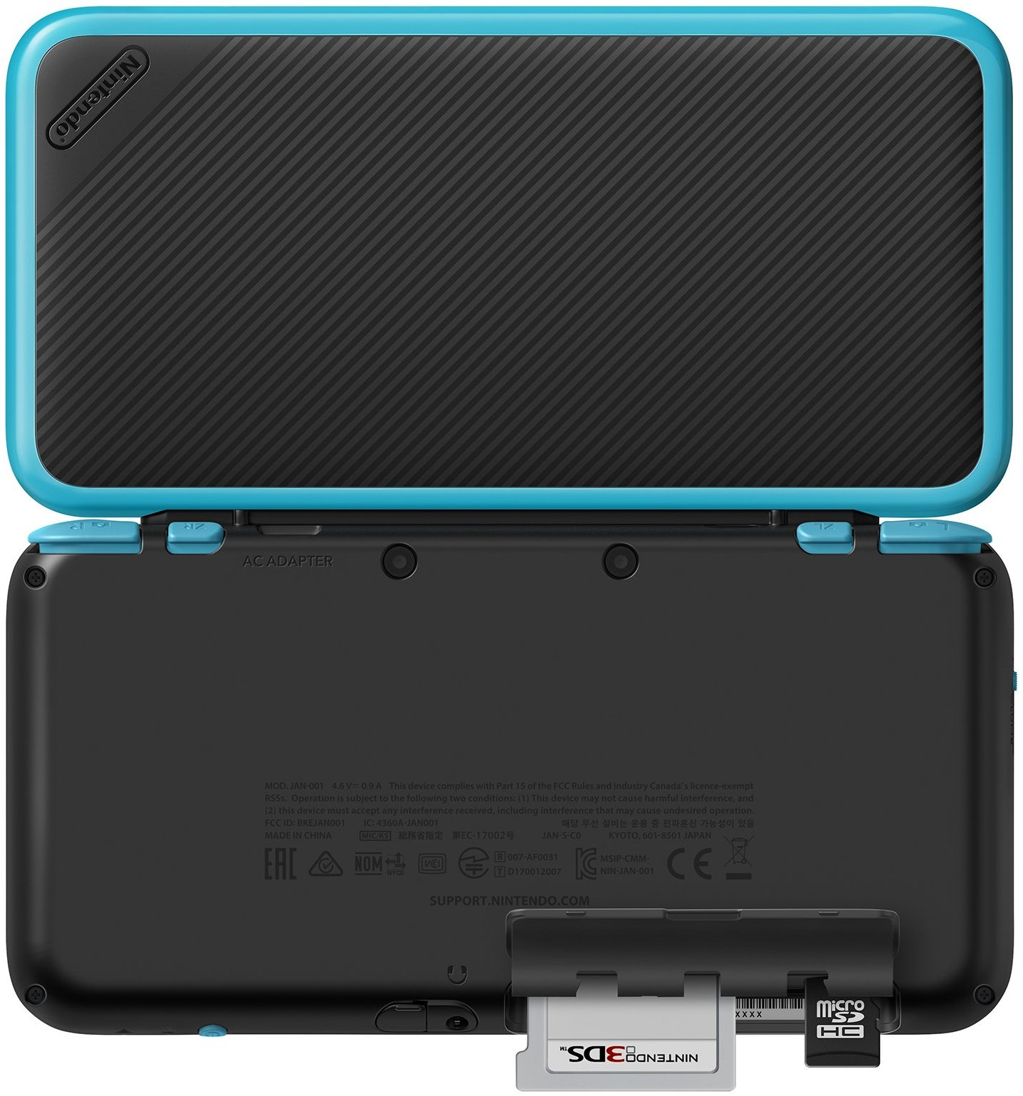 nintendo 2ds xl black turquoise gamechanger. Black Bedroom Furniture Sets. Home Design Ideas