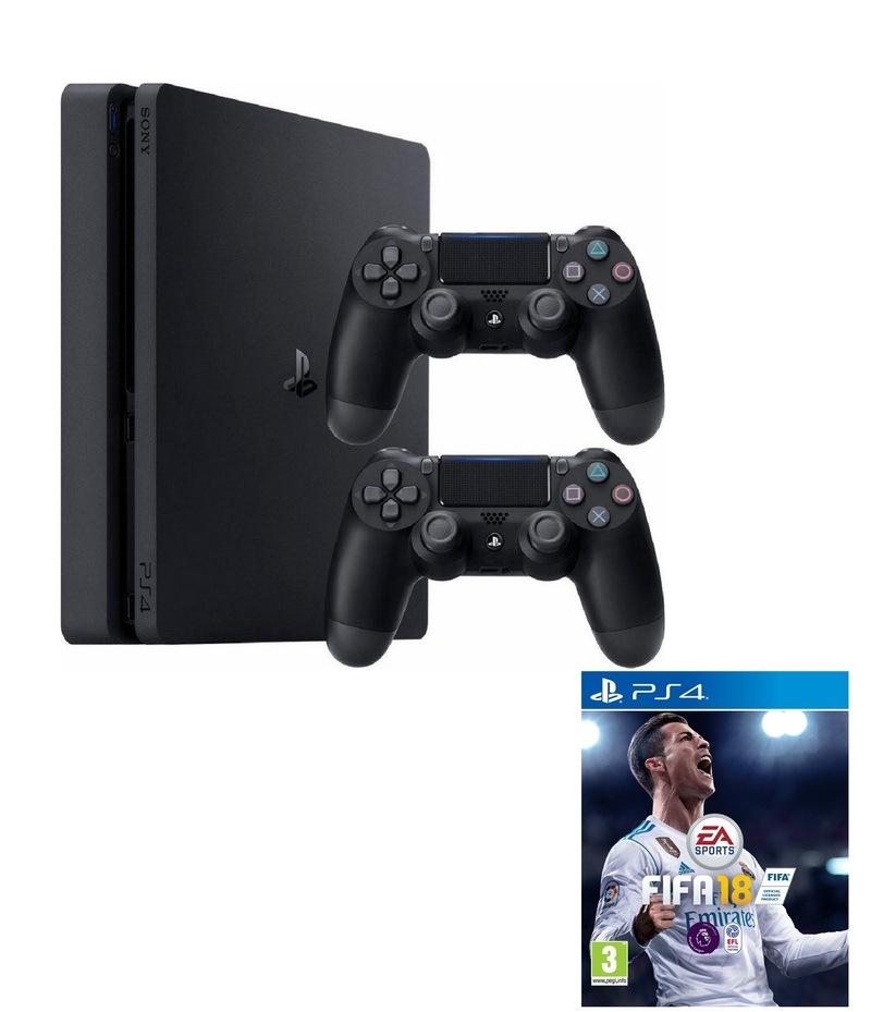 Ps4 Slim 1tb 2 Controllers Fifa 18 Bundle Gamechanger